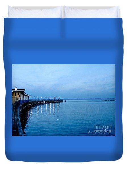 Blue Light Horizon Duvet Cover by Carol F Austin