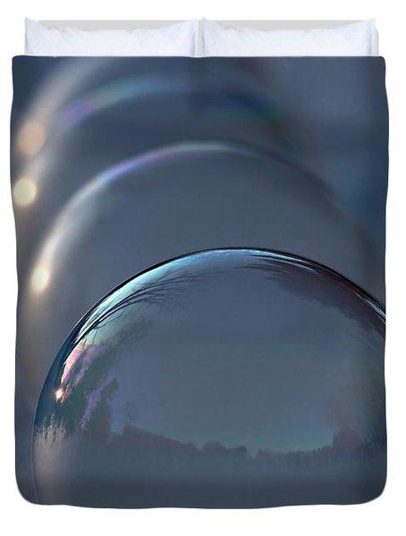 Blue Hour Frozen Bubbles Duvet Cover
