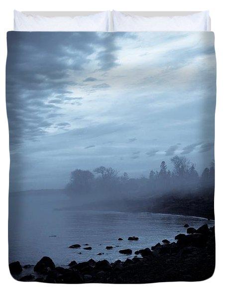 Blue Hour Mist Duvet Cover