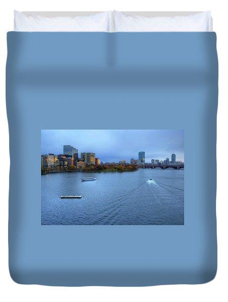Blue Hour On The Charles Duvet Cover by Joann Vitali