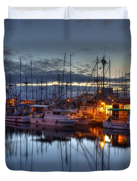 Blue Hour Duvet Cover by Randy Hall