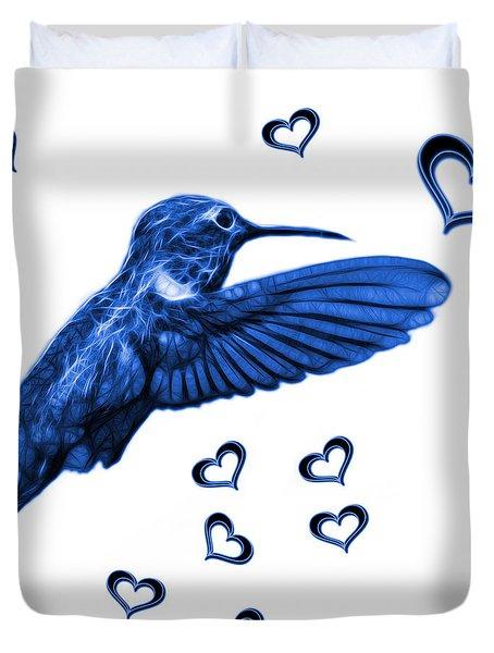 Blue Hummingbird - 2055 F S M Duvet Cover