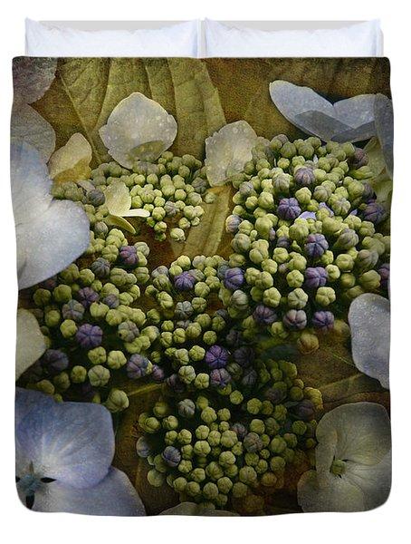 Duvet Cover featuring the photograph Blue Hydrangea by Barbara Orenya