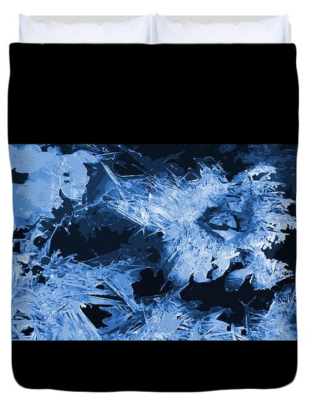 Blue  Ice Duvet Cover