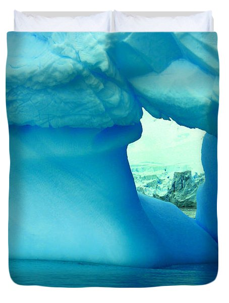 Blue Iceberg Antarctica Duvet Cover