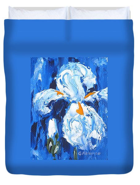 Blue Iris Duvet Cover