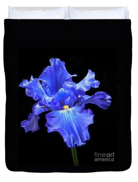 Blue Iris Duvet Cover by Robert Bales