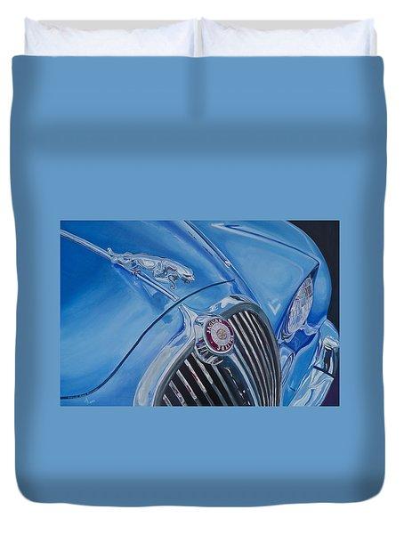 Vintage Blue Jag Duvet Cover