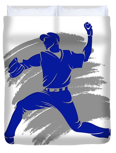 Blue Jays Shadow Player2 Duvet Cover