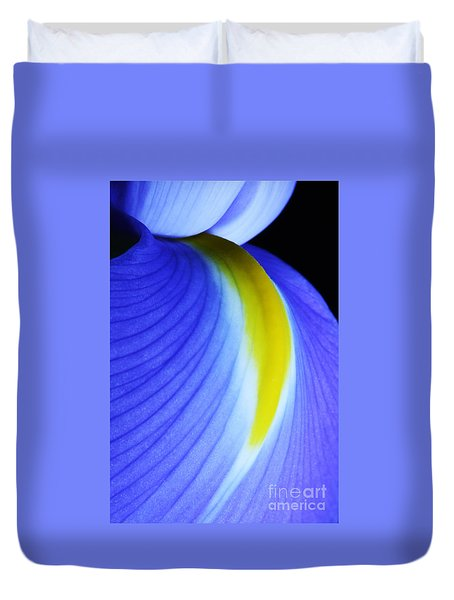 Duvet Cover featuring the photograph Blue by Judy Whitton