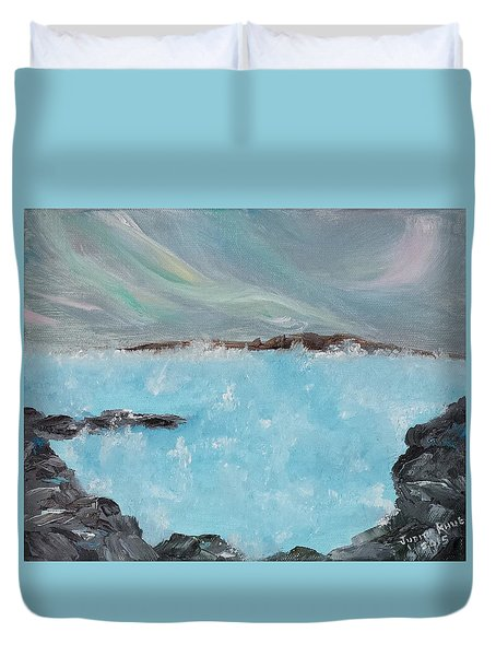 Blue Lagoon Iceland Duvet Cover by Judith Rhue