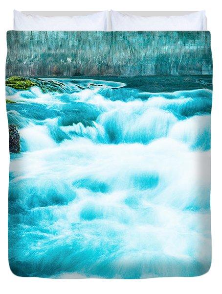 Duvet Cover featuring the photograph Blue Lagoon by Steven Bateson