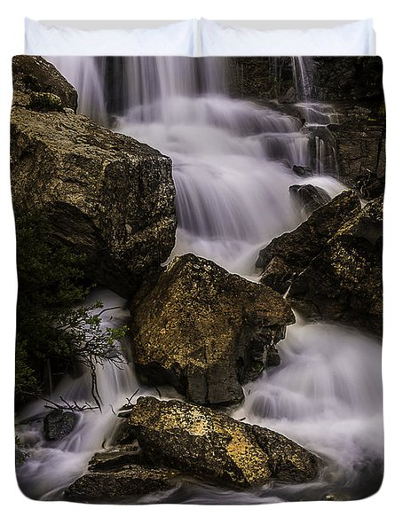 Blue Lake Falls Duvet Cover