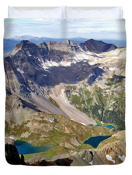Blue Lakes Beauty Duvet Cover by Jeremy Rhoades