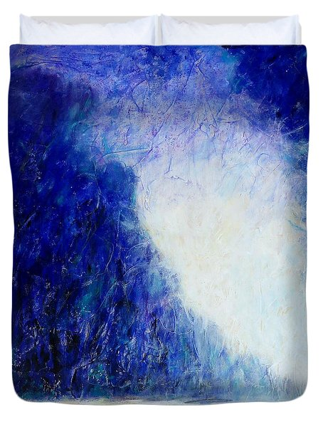 Blue Landscape - Abstract Duvet Cover