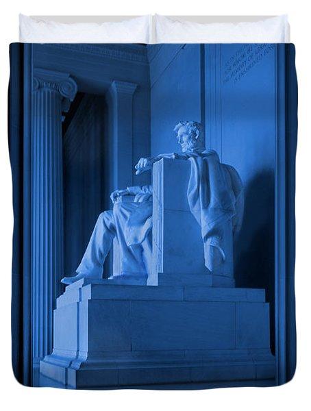 Blue Lincoln Duvet Cover by Mike McGlothlen