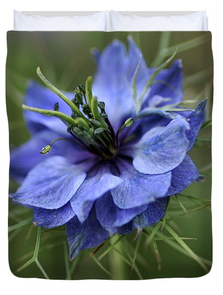 Duvet Cover featuring the photograph Blue Love by Joy Watson