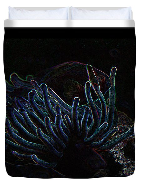 Blue Magic Light Fish  Duvet Cover