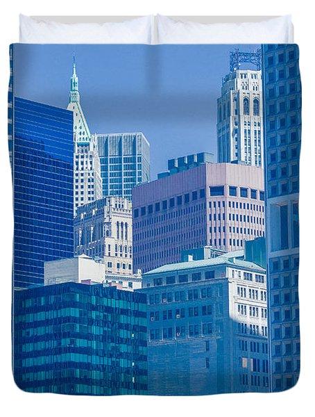 Blue Manhattan Duvet Cover