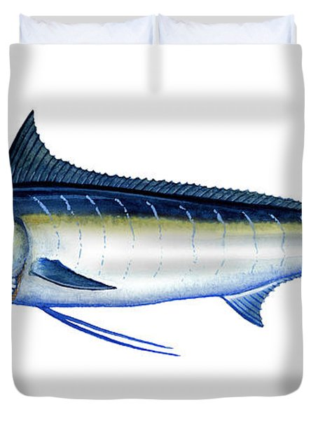 Blue Marlin Duvet Cover by Charles Harden