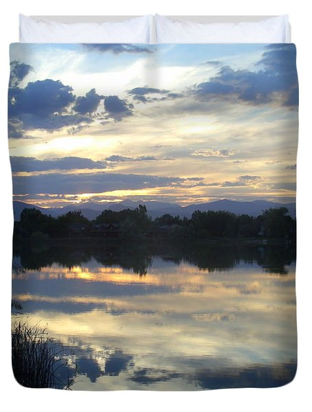 Blue Mirror Duvet Cover