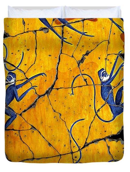 Blue Monkeys No. 41 Duvet Cover