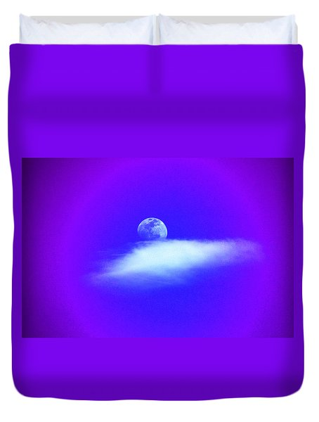 Blue Moon Lavender Sky Duvet Cover