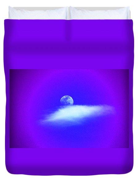 Blue Moon Lavender Sky Duvet Cover by Susanne Still