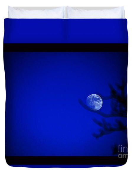 Blue Moon Rise Duvet Cover
