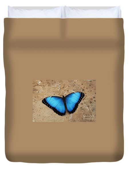 Blue Morpho #2 Duvet Cover