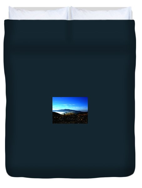 Blue Mountain Landscape Umbria Italy Duvet Cover
