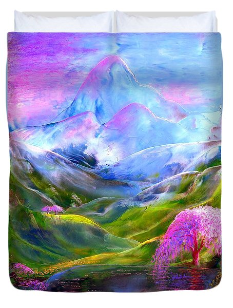 Blue Mountain Pool Duvet Cover