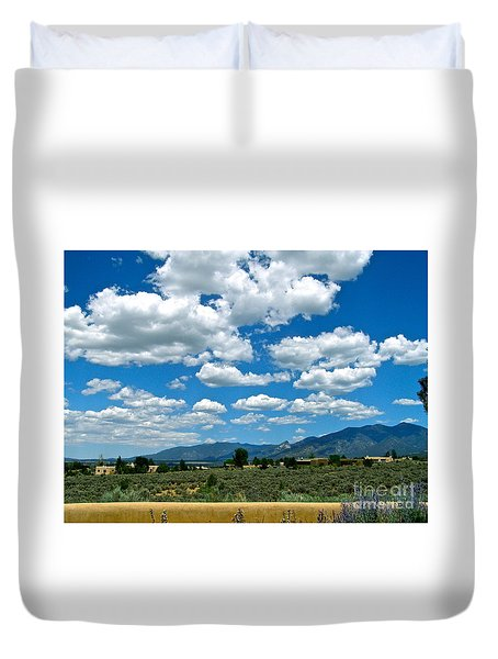 Blue Mountain Skies Duvet Cover