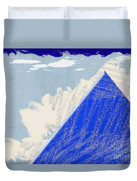 Duvet Cover featuring the photograph Blue Mountain by Tina M Wenger