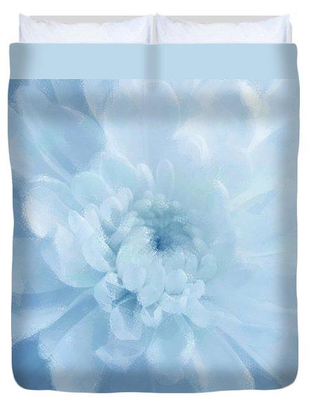 Blue Mum Luminous Painted Blossom Duvet Cover