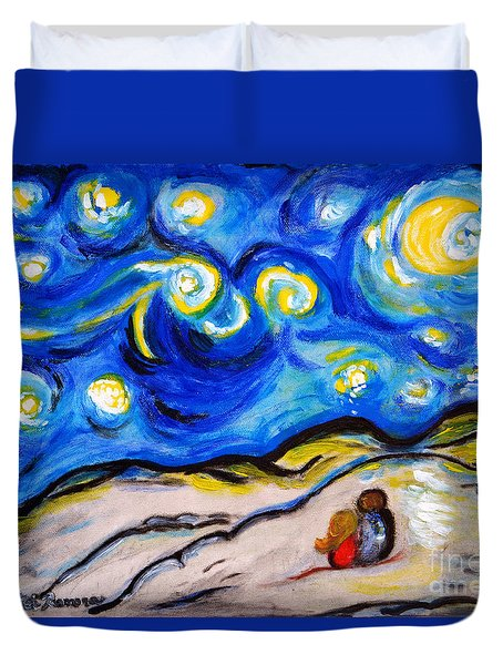 Blue Night Duvet Cover by Ramona Matei