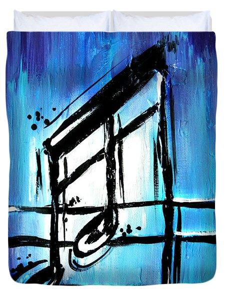 Blue Notes  Duvet Cover