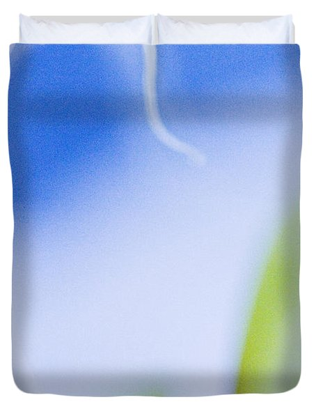 Blue Orchid Abstract Duvet Cover by Bradley R Youngberg