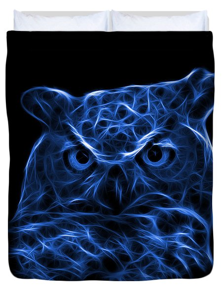 Blue Owl 4436 - F M Duvet Cover by James Ahn