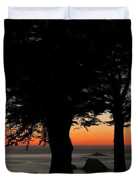Blue Pacific At Sunset Duvet Cover