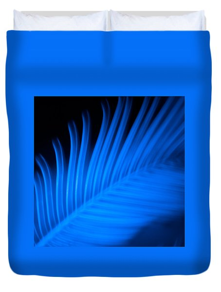 Blue Palm Duvet Cover