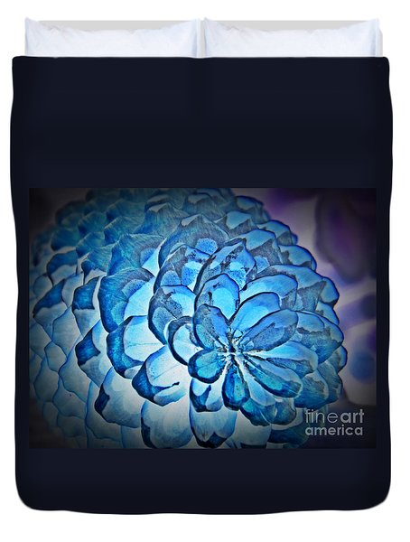 Blue Pine Cone 2 Duvet Cover by Chalet Roome-Rigdon