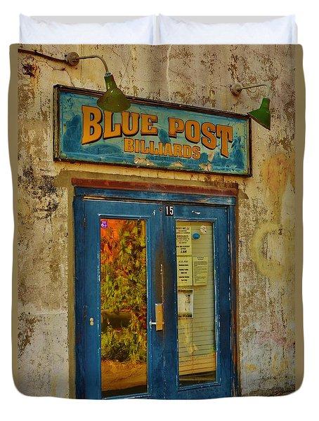 Blue Post Billiards Duvet Cover