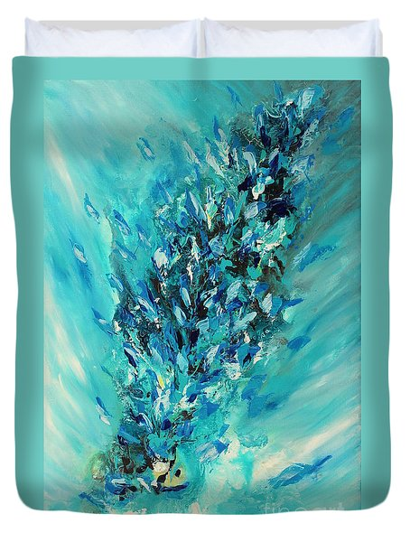 Blue Power Duvet Cover