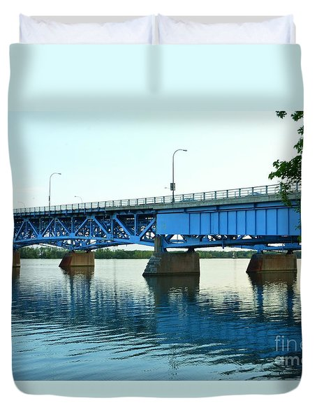 Blue Reflections Duvet Cover by Kathleen Struckle