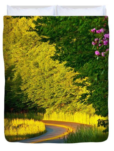 Duvet Cover featuring the photograph Blue Ridge Afternoon by John Haldane