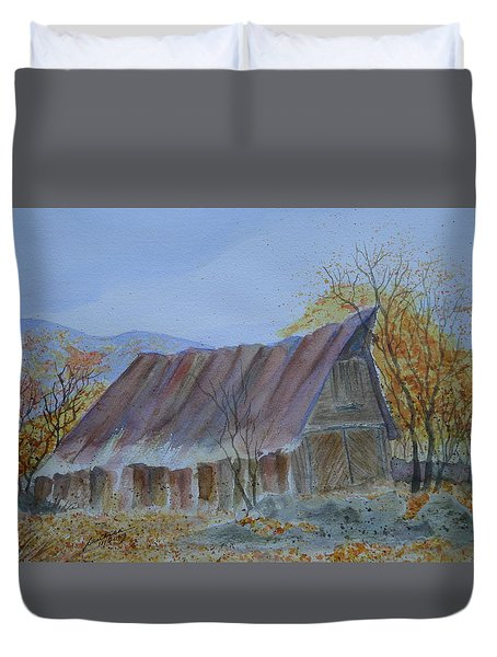 Blue Ridge Barn Duvet Cover by Joel Deutsch
