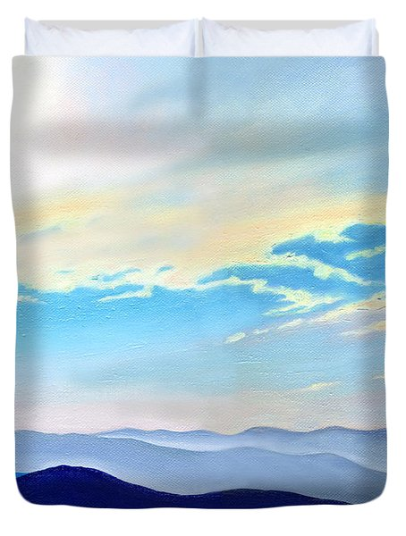 Blue Ridge Blue Above Duvet Cover