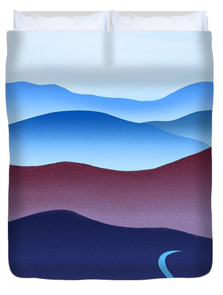 Blue Ridge Blue Road Duvet Cover