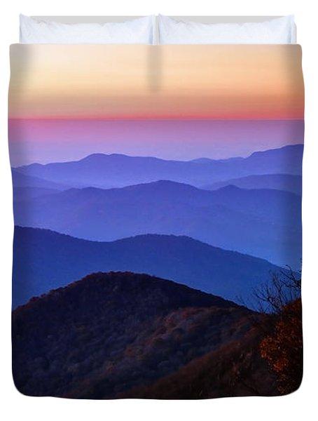 Blue Ridge Dawn Duvet Cover